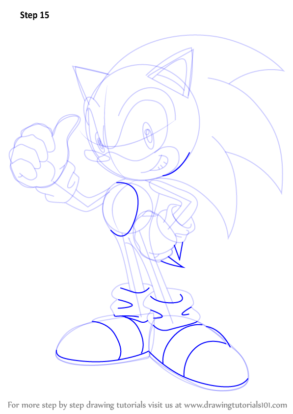 Learn How To Draw Sonic Sonic The Hedgehog Step By Step