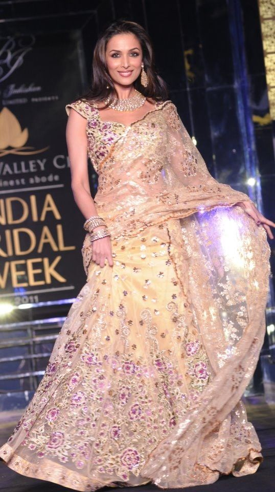 Malaika Arora Khan In Cream Saree At India Bridal Week 2011 www ...