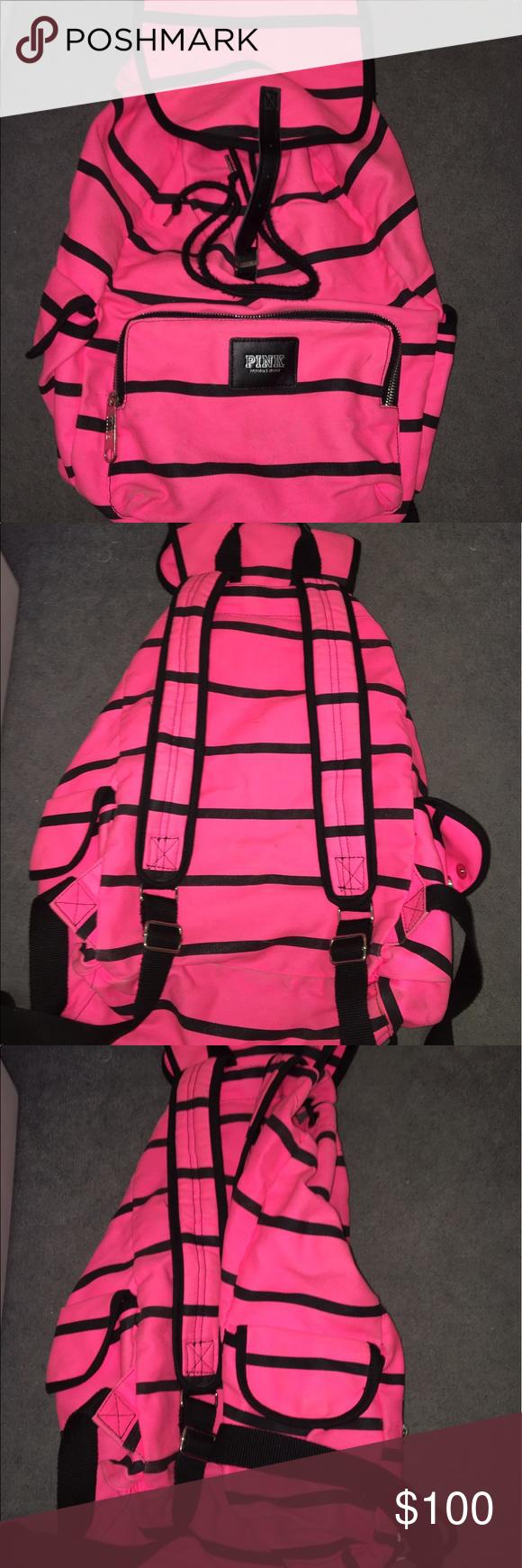 VS PINK bag CRAZY cute VS PINK backpack. Barely ever used! PINK Victoria's Secret Bags Backpacks