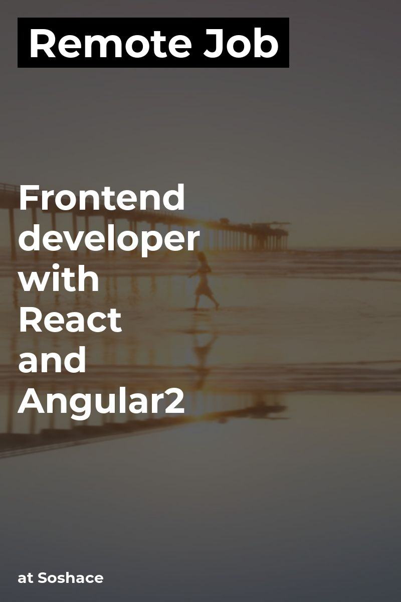 Remote Frontend developer with React and Angular2+ at