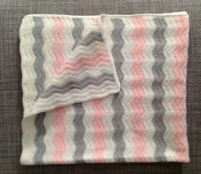 Como hacer manta de beb en zig zag manta beb y ganchillo - Manta de bebe a ganchillo ...