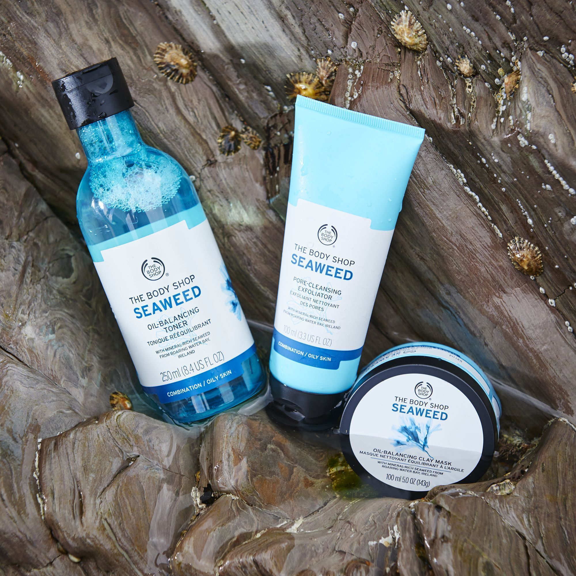 Designed For Combination Skin Our Seaweed Range Helps To Restore Balance And Control Excess Oil To Help Give Body Shop Skincare The Body Shop Combination Skin