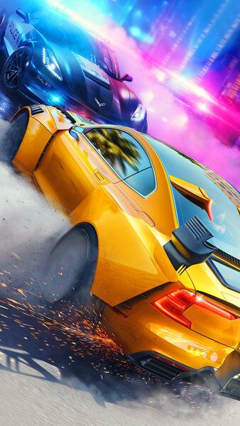 Need For Speed Heat Cars Drifting Police Pursuit 4k Hd