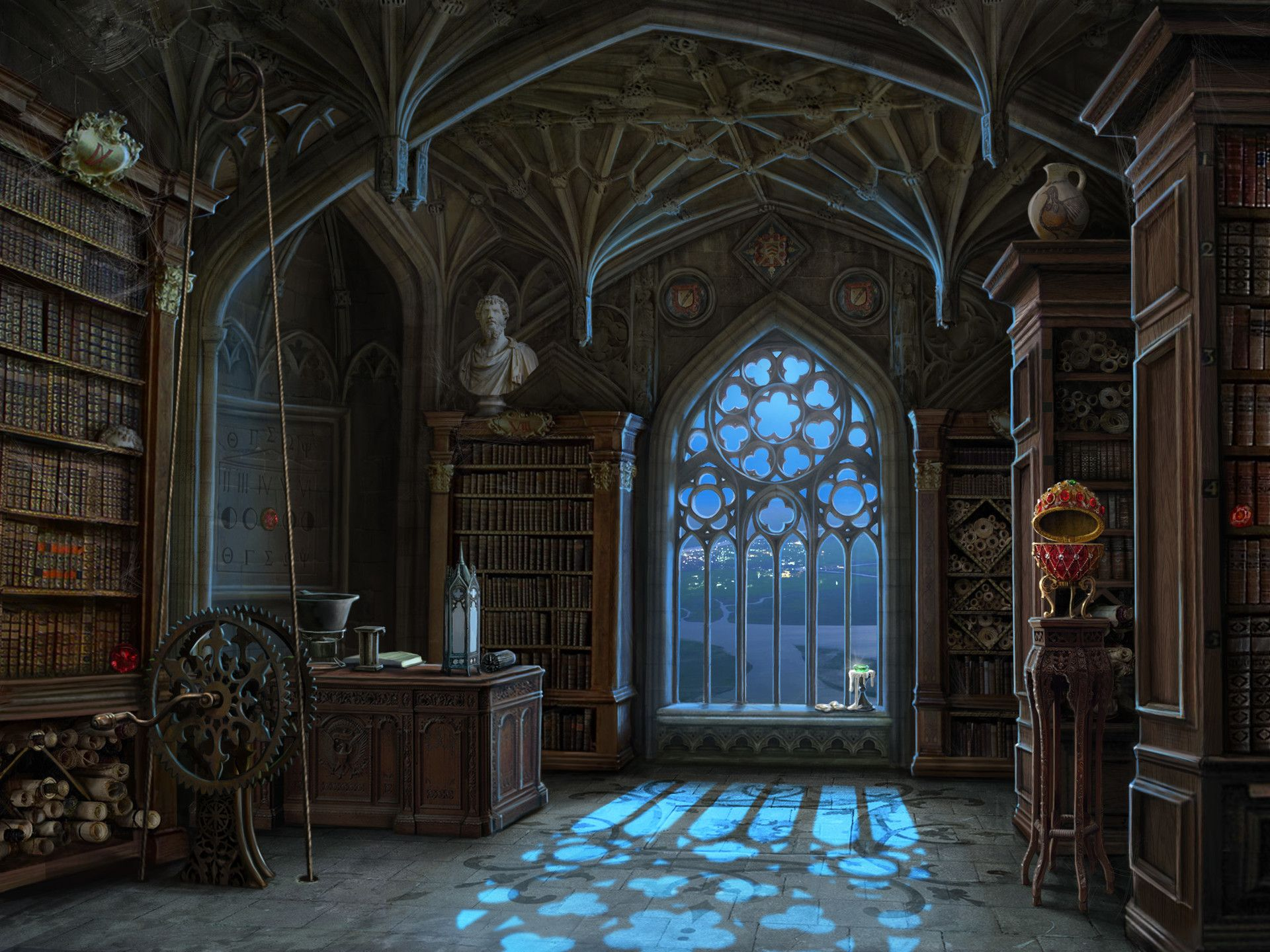Artstation Library Background And Miniscenes For Curse At