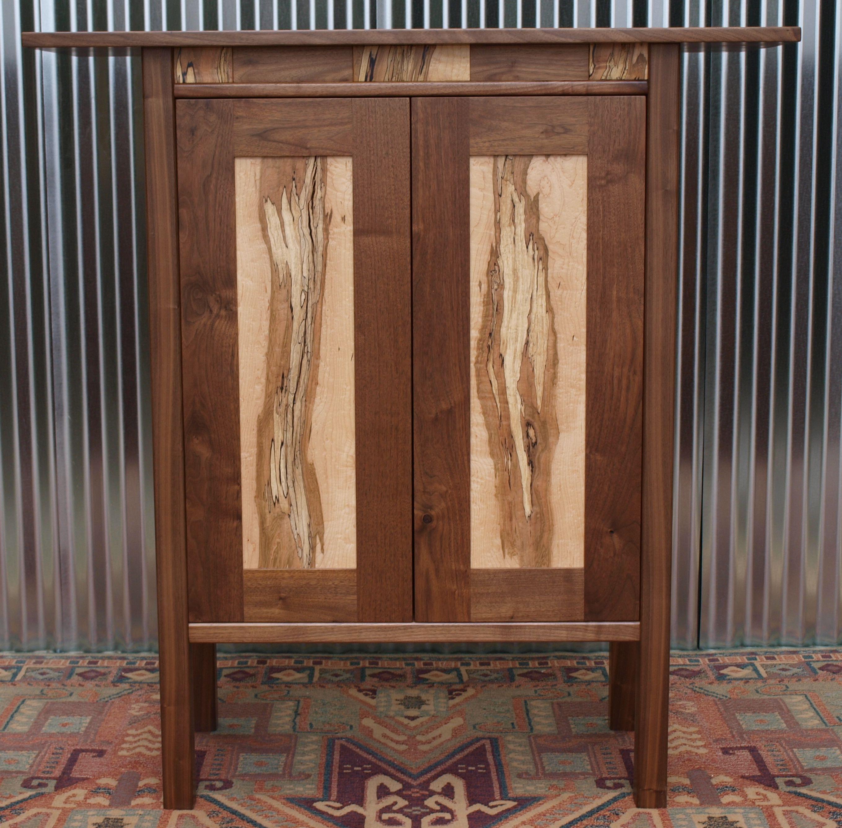 Walnut & spalted maple cabinet Custom orders available   Custom ...