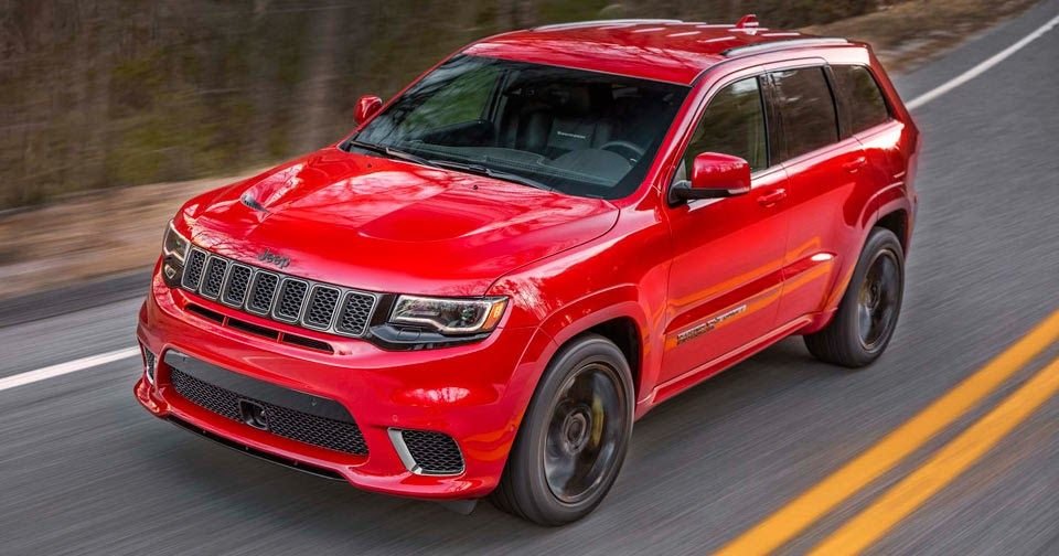 2018 Jeep Grand Cherokee Trackhawk Is A 707 Hp All Wheel Drive Brute Jeep Grand Cherokee Srt Jeep Grand Cherokee