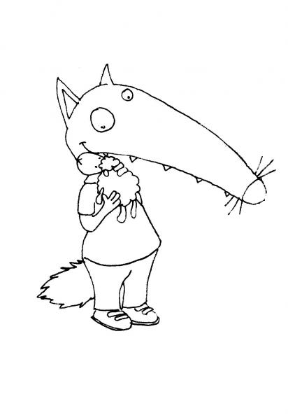 Loup p 39 tit loup calin doudou loup pinterest loup - Petit loup dessin ...