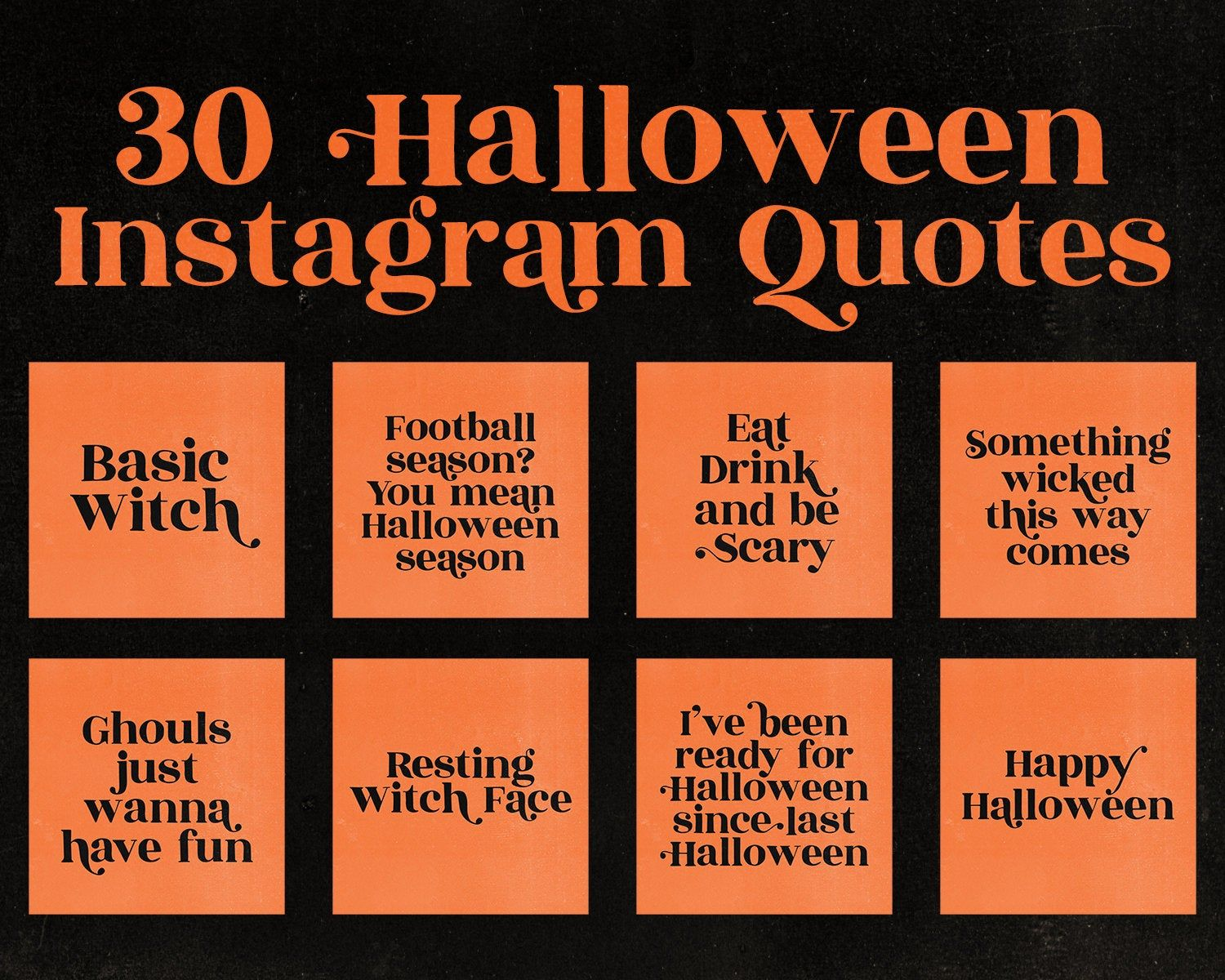 Halloween Quotes Instagram Social Media Witch Insta Branding Kit Funny Quotes Pagan Instagram Retro Quotes In Halloween Quotes Instagram Quotes Retro Quotes