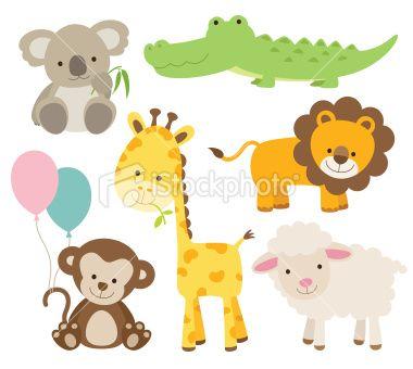 Animal Set Stock Vector Art 19355328 Istock Cute Animals Animal Clipart Giraffe