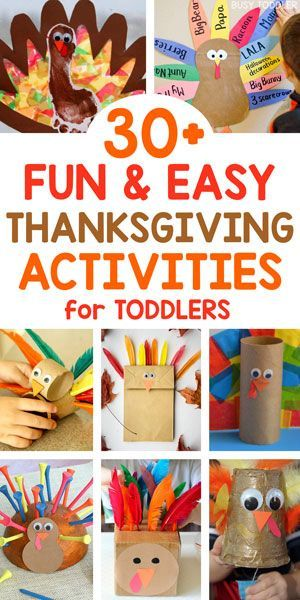 30+ Easy Thanksgiving Activities for Toddlers #thanksgivingcraftsfortoddlers