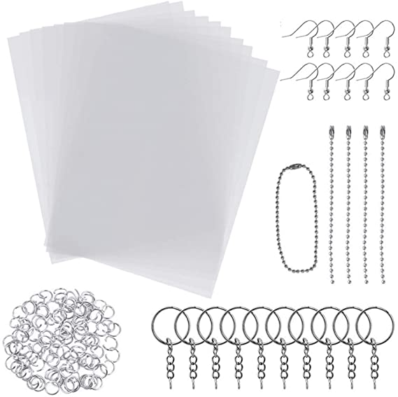 Amazon Com Xbao 145 Pieces Heat Shrink Plastic Sheets Set Include 20 Pcs Blank Shrinky Art Film Paper 7 9 X In 2020 Diy Pendant Shrink Plastic Sheets Plastic Sheets