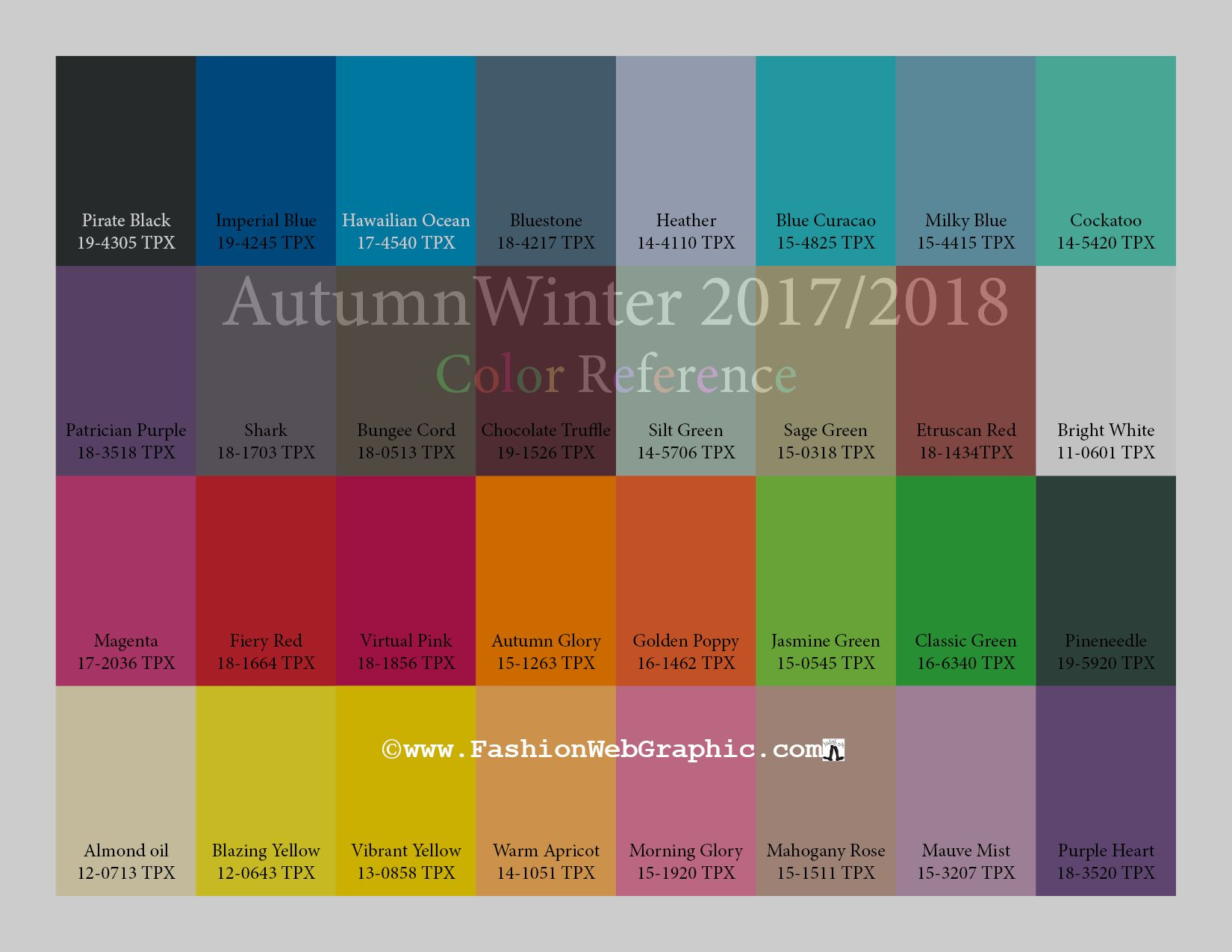 Autumn Winter 2017 2018 Trend Forecasting Is A Color Guide That Offer Seasonal Inspiration Key Direction For Women Men S Fashion