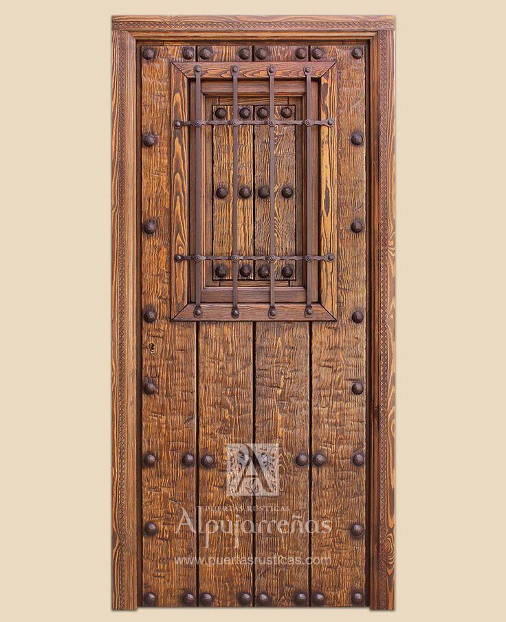 Puertas rusticas de herreria puertas - Puertas de madera decoradas ...