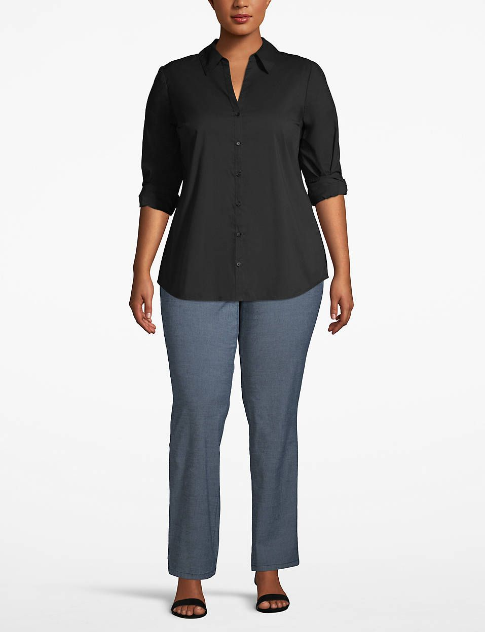 Collared Button Front Top Lane Bryant Outlet In 2020 Plus Size Outfits Fashion Clothes Women Clothes