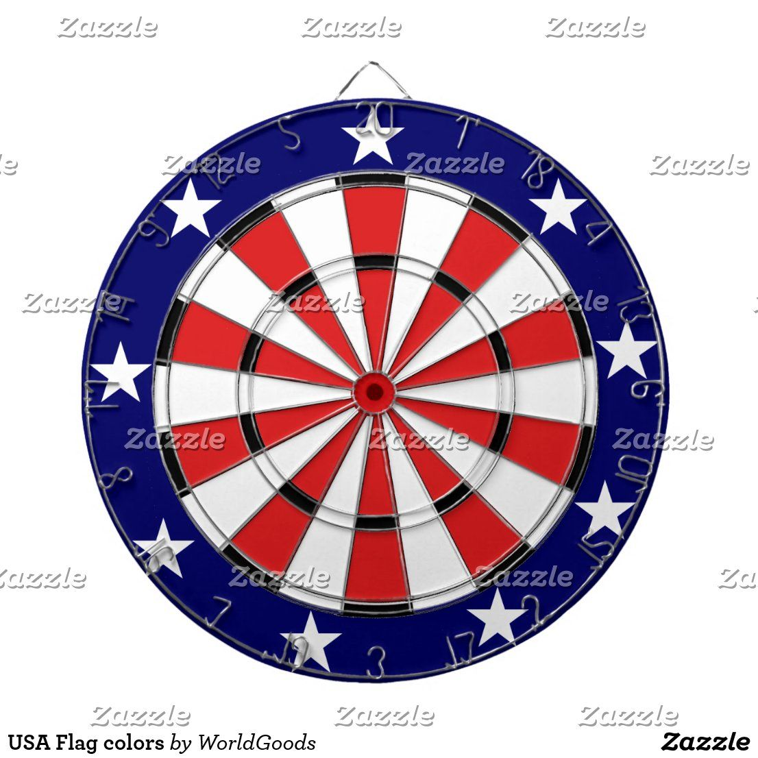 USA Flag colors Dart Board in 2020 Flag