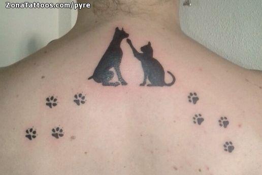 23 Tatuaje perro y gato