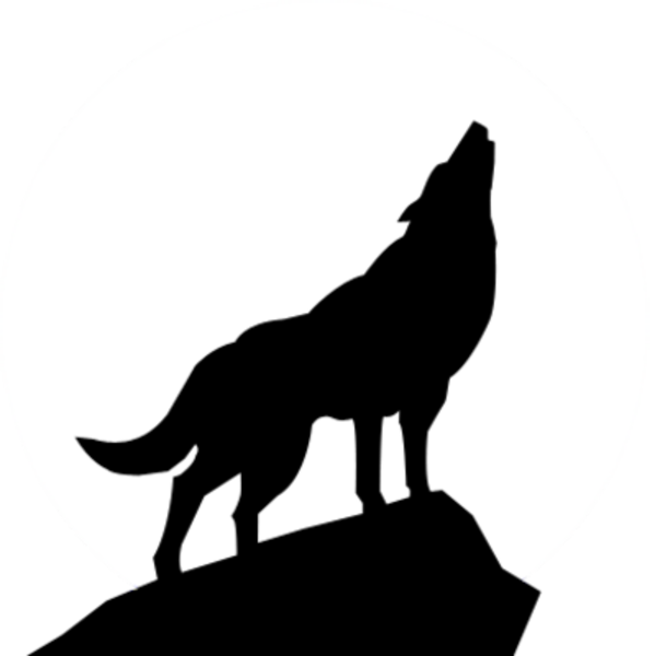 free clip art wolves wolf silhouette psd image vector clip art rh pinterest ca wolf black and white clipart wolf clip art pictures