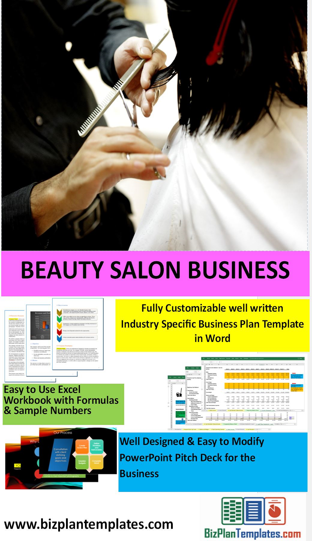 Beauty salon start up package excellent business plan excel beauty salon start up package excellent business plan excel financial workbook and pitch accmission Gallery