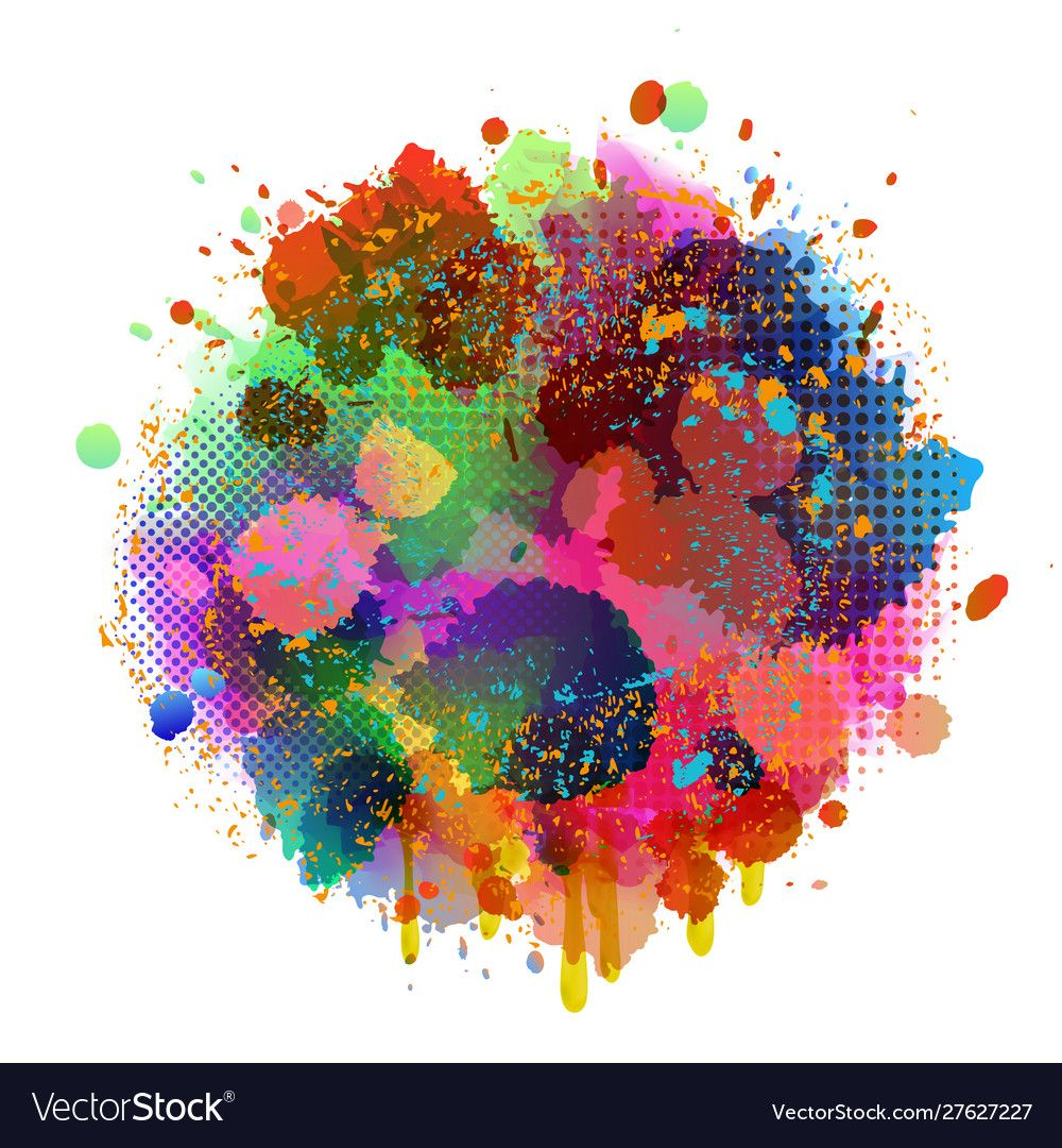 Abstract splatter color background vector image on, 2020