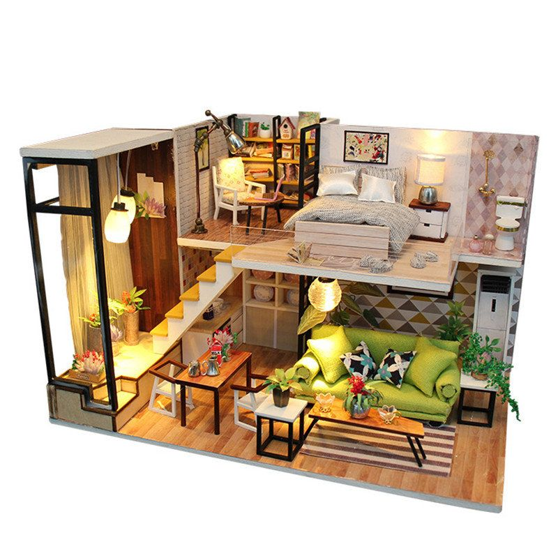 Awesome Personalized Enjoy The Romantic Europe DIY House With Furniture Music Light  Cover Miniature Decor Toy   NewChic