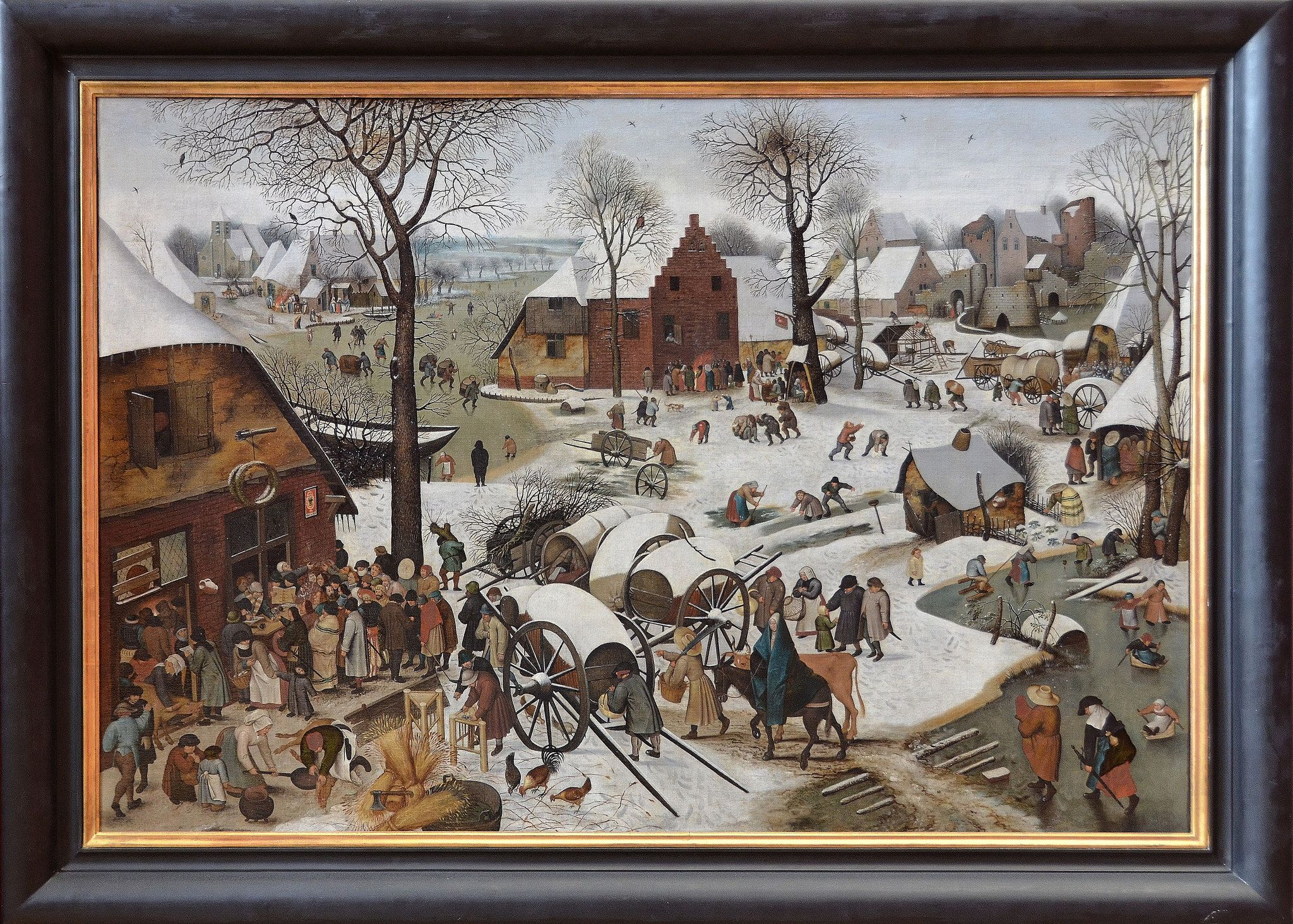 Lille Nord Palais Des Beaux Arts Le Denombrement De Bethleem Pieter Brueghel Ii Dit Le Jeune 1564 1638 Art Frieze Masters Pieter Bruegel The Elder