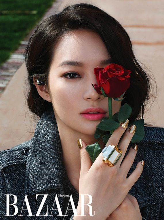 Shin Min Ah for Harper's Bazaar Korea Sept. 2012 in the editorial Being Cinema Angel photographed by Kim Young Jun and styled by Yun Ju Kang.