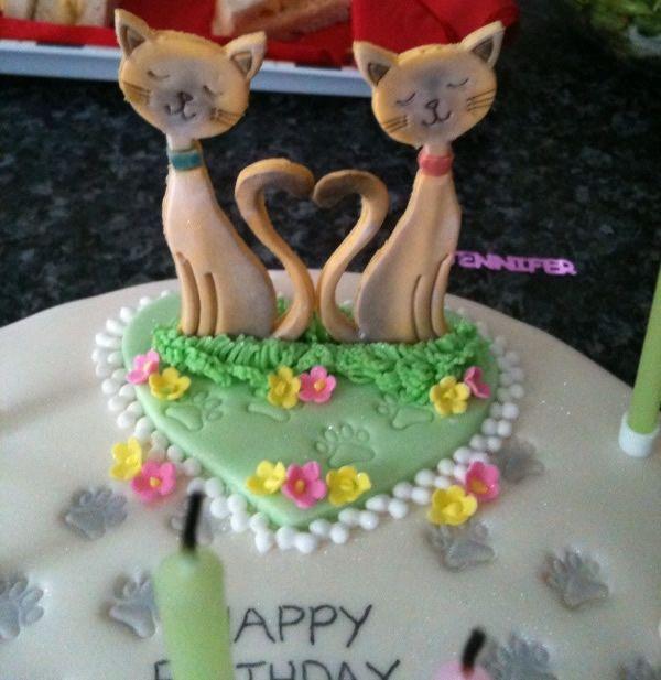 Siamese Cats Birthday Cake Design Wedding Party Cakes Cake ideas