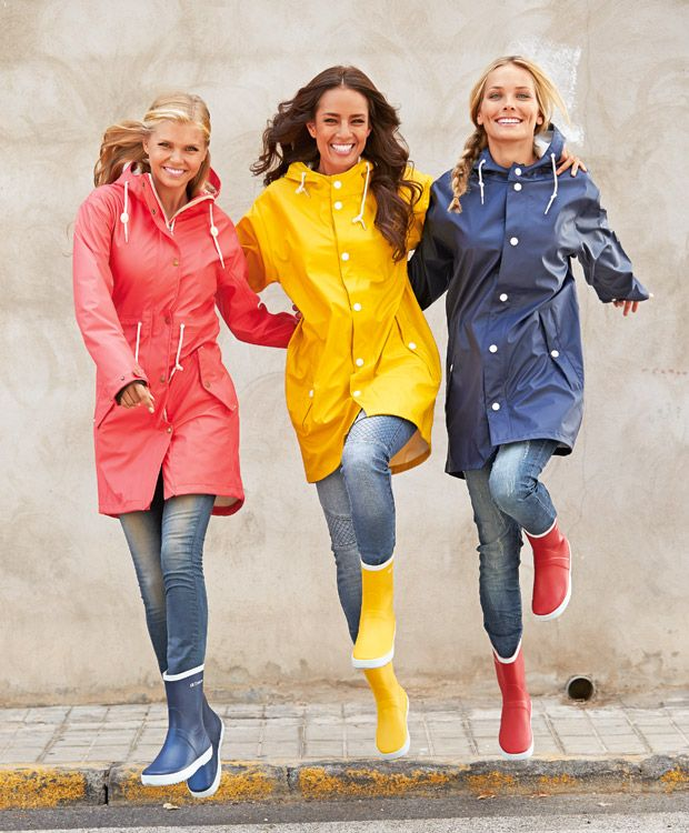 Red, Yellow And Blue PVC Raincoats