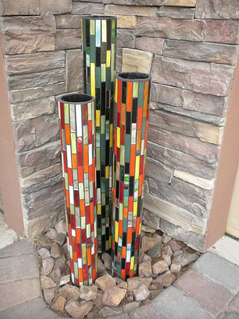 Image result for Mosaic PVC Pipe Planters