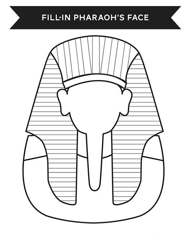 Print Your Face In Ancient Egypt Pharaoh Costume Coloring Page