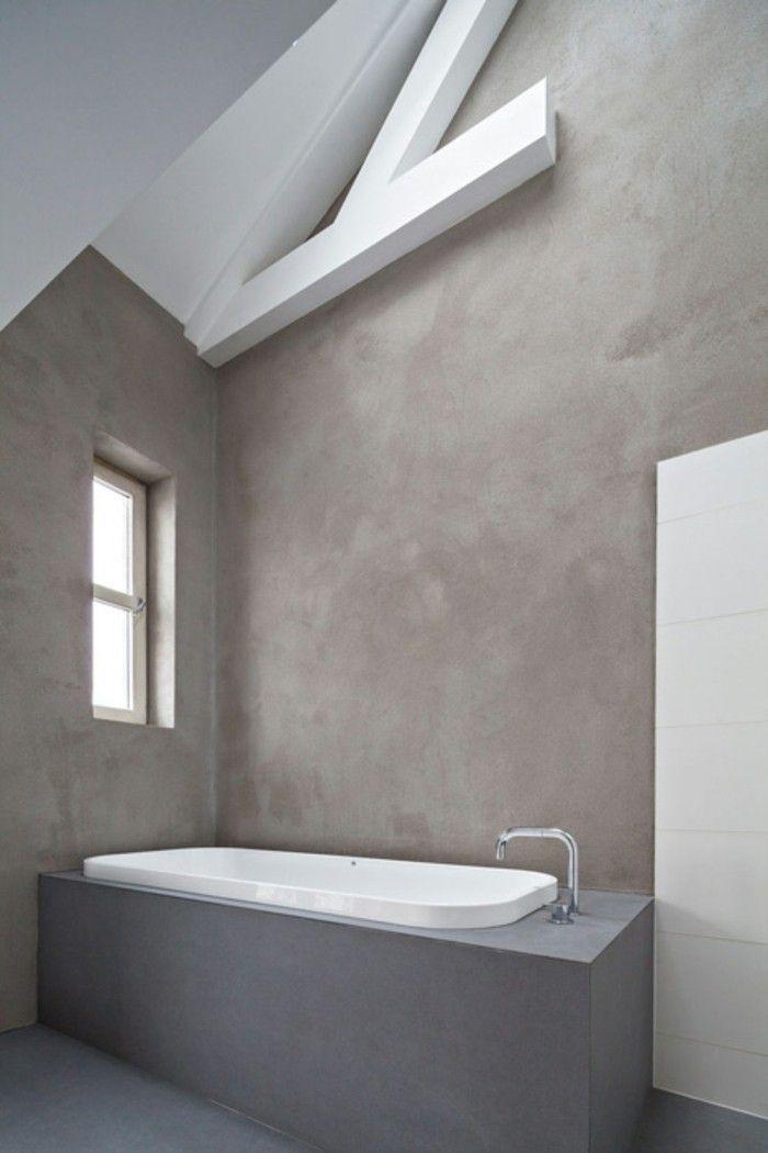 Resina bagno pareti grigie effetto marmo vasca esterno - Resina piastrelle bagno ...
