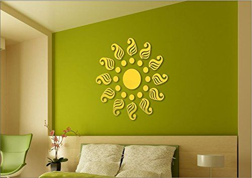 Golden Traditional Pure Cast Quality 3D Mirror Finish Acrylic Wall ...