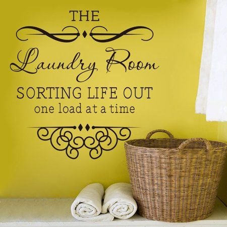 Meigar The Laundry Room Quote Removable Words Wall Stickers Decal
