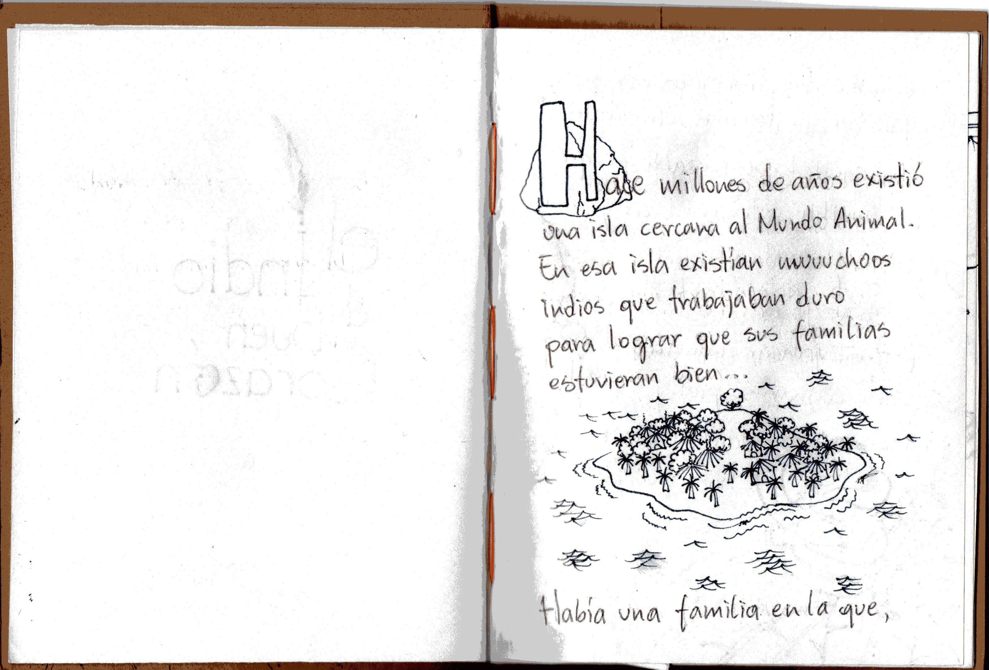 """""""El Indio de Buen Corazón"""" - Cuento PopUp Infantil: Alondon / Textos: Anabel Hoja 1"""