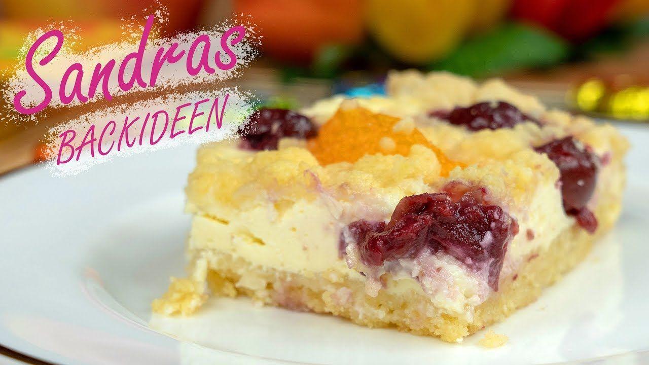 Einfacher Quarkkuchen Mit Kirschen Mandarinen Und Streusel Youtube Quarkkuchen Backideen Kuchen Streusel