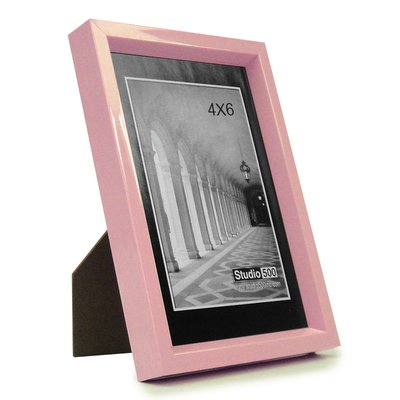 Studio 500 Traditional Serene Picture Frame Color: Pink, Size: 10\