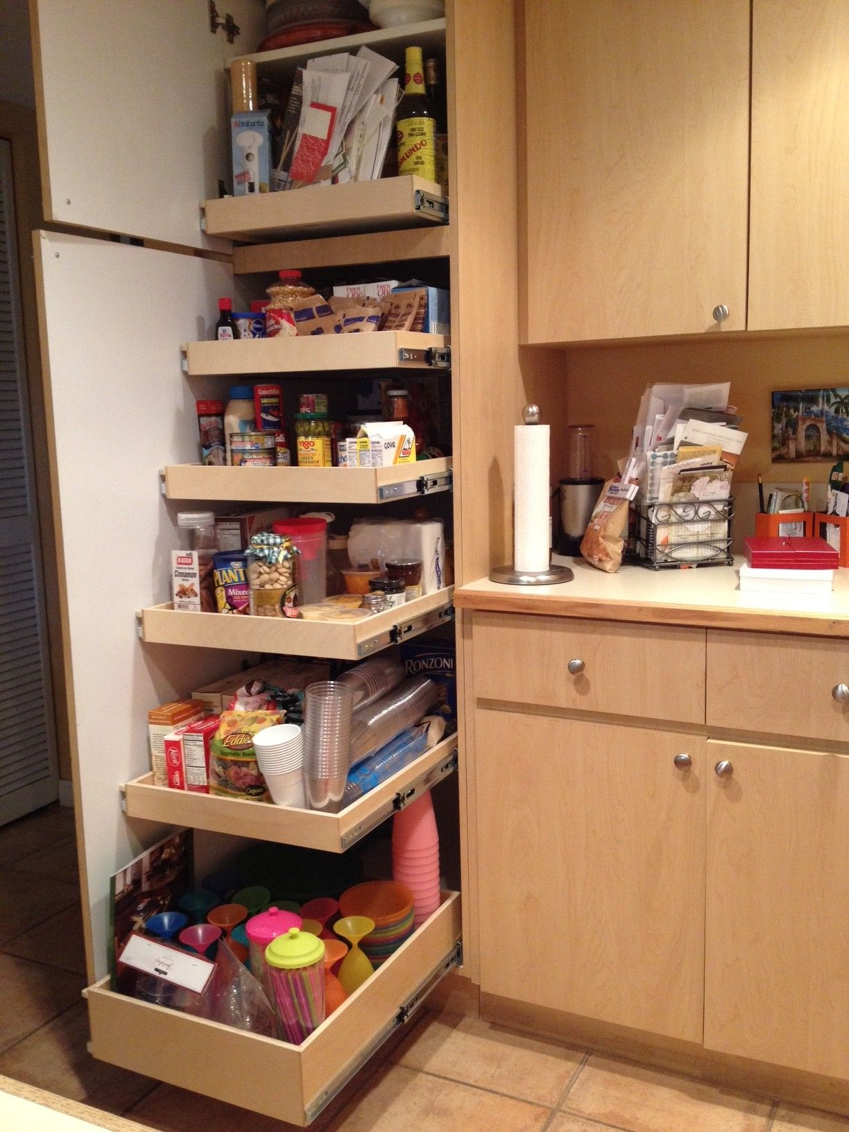 Interesting Pantry Ideas For Your Kitchen And Organizing Endearing Cedar Wooden Cabinet With Pull Out E Racks Also Double
