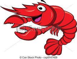 Camaron Shrimp Cartoon Cartoons Vector Cartoon Sea Animals