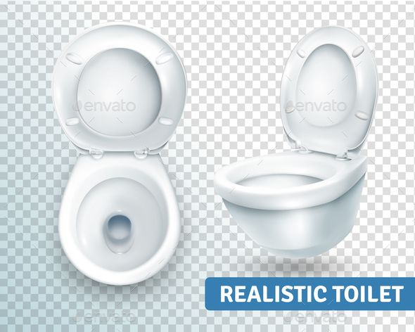 Toilet Bowl Realistic Set Photography Backdrop Stand Royalty Free Vector