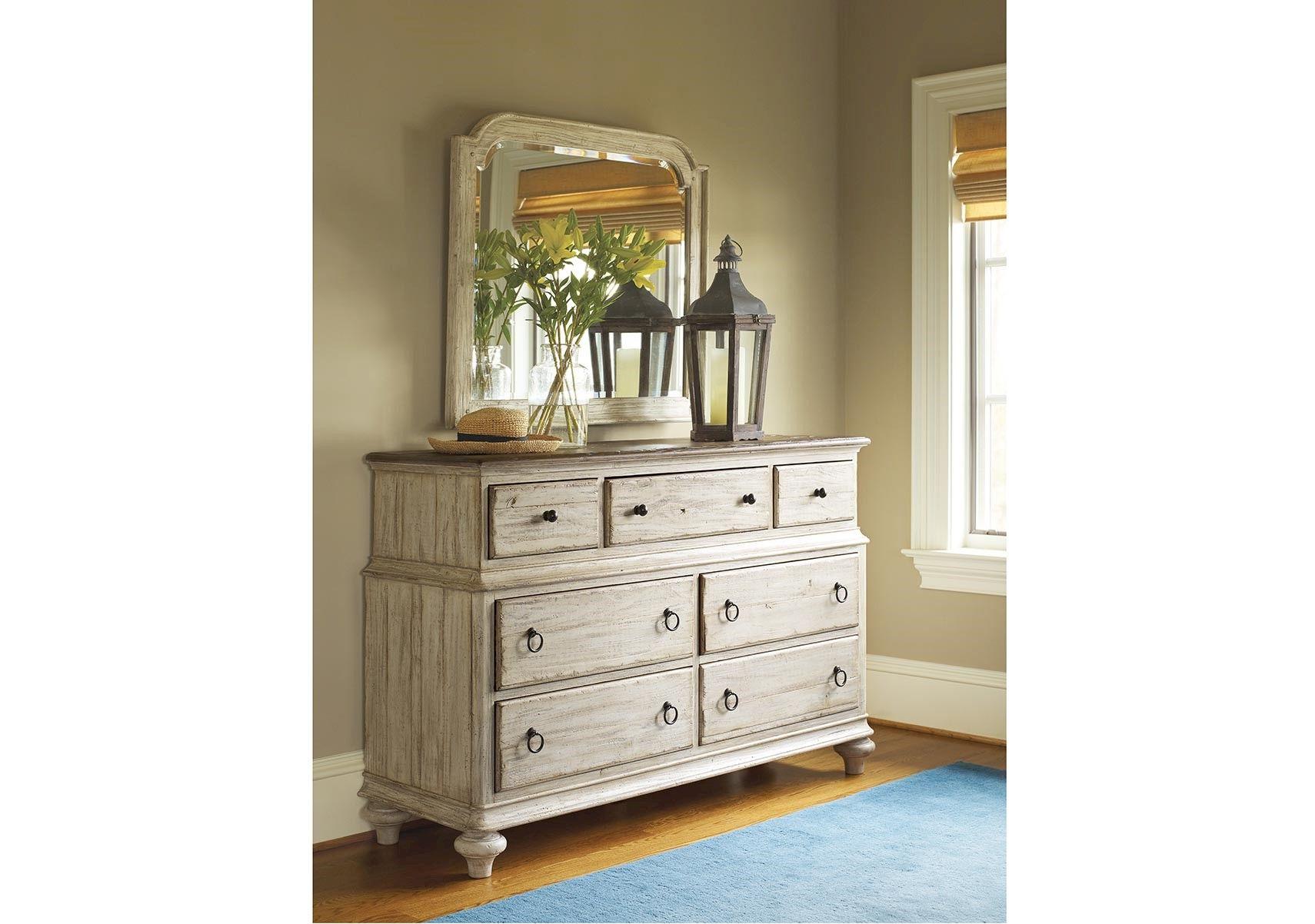 Lacks Weatherford 7Drawer Dresser and Mirror Kincaid