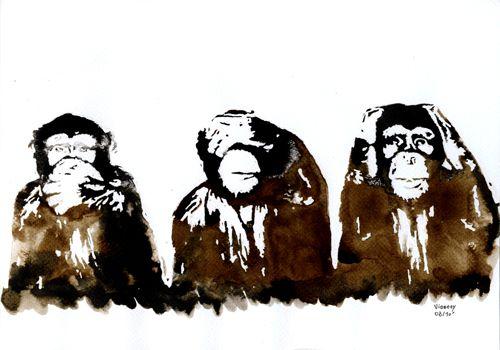 les 3 singes sagesse pinterest singes sagesse et. Black Bedroom Furniture Sets. Home Design Ideas