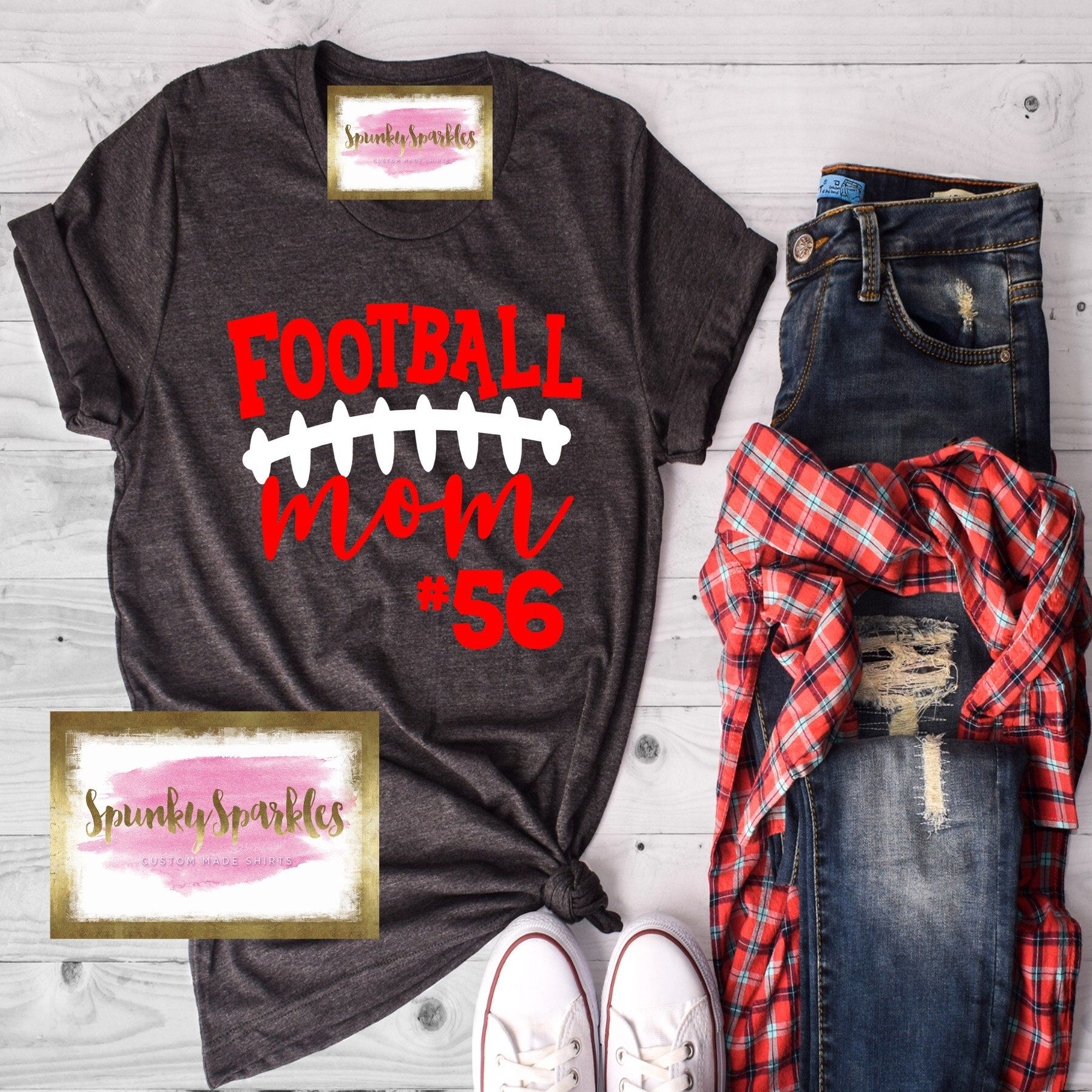 Football Mom Shirt, Personalized Football Shirt, F
