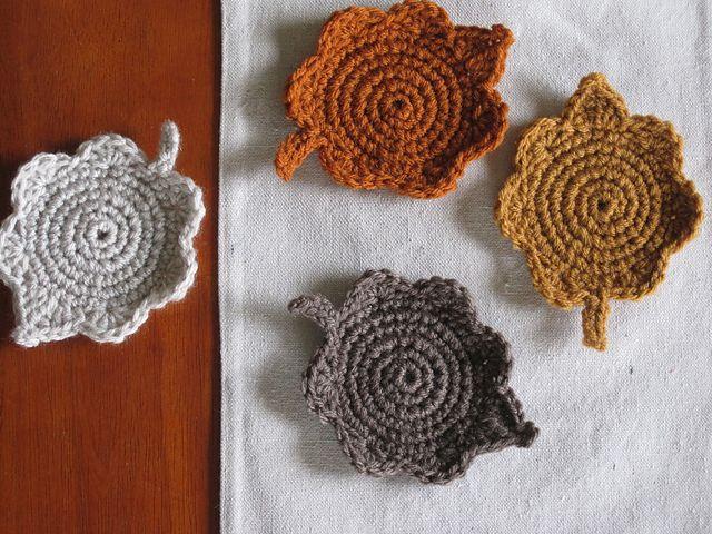 Ravelry: Felted Leaf Coasters pattern by Lion Brand Yarn | crafty ...
