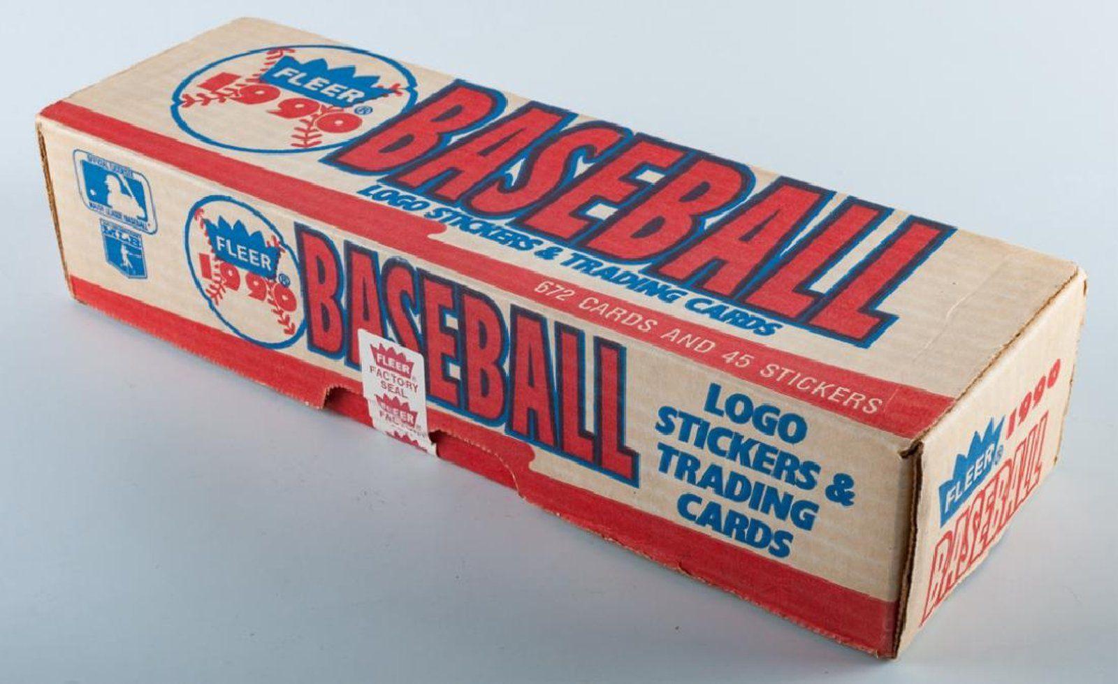 1990 fleer baseball cards factory sealed set card factory