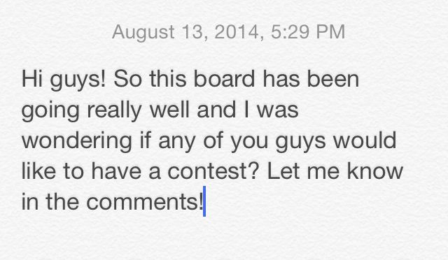 Want to have a contest? Let me know!