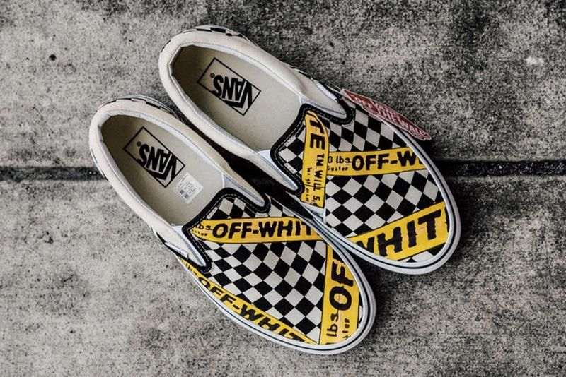 4860c212349 Vans USA.AMAC Customs CheckerBoard Slip-On Classic Yellow Black White  Womens Shoes