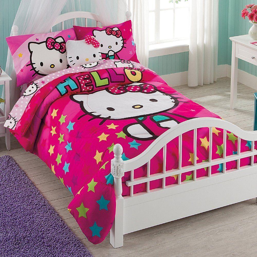 Hello Kitty 7 Piece Comforter Set Full Reversible