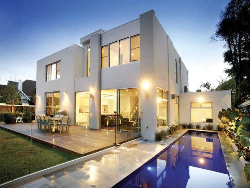 House facade ideas exterior house design and colours Modern houses with big windows