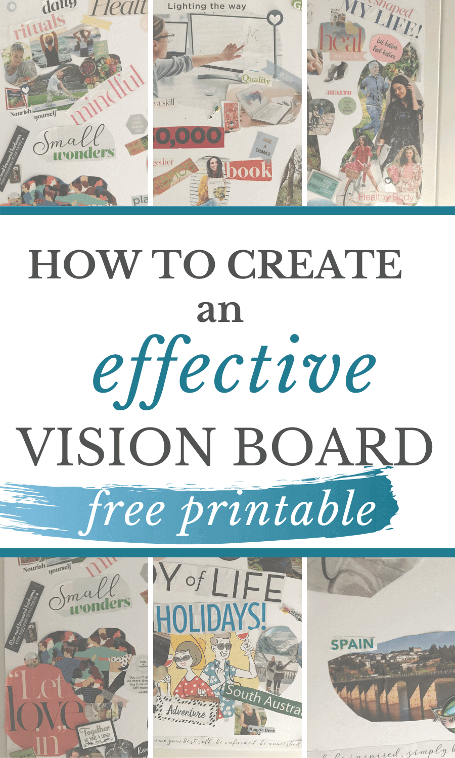 The latest post is on how to create a powerful vision