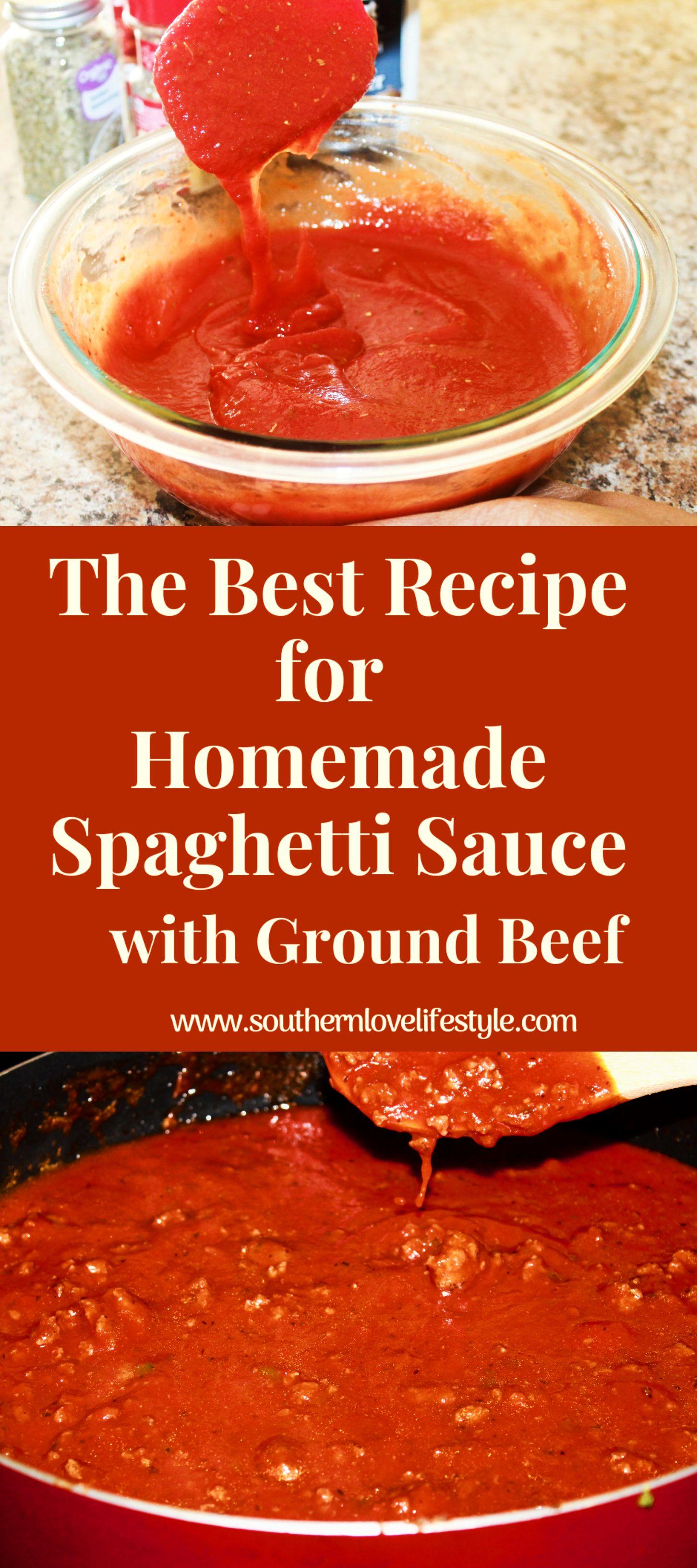 How To Make Homemade Spaghetti Meatballs Southern Love Recipe Homemade Meat Sauce Homemade Spaghetti Homemade Spaghetti Sauce